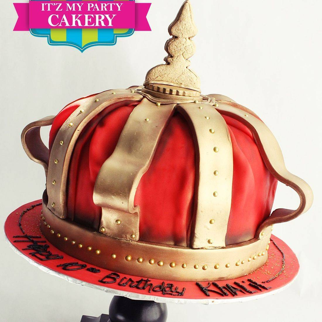 Red Crown Cake Dimensional Cake Milwaukee