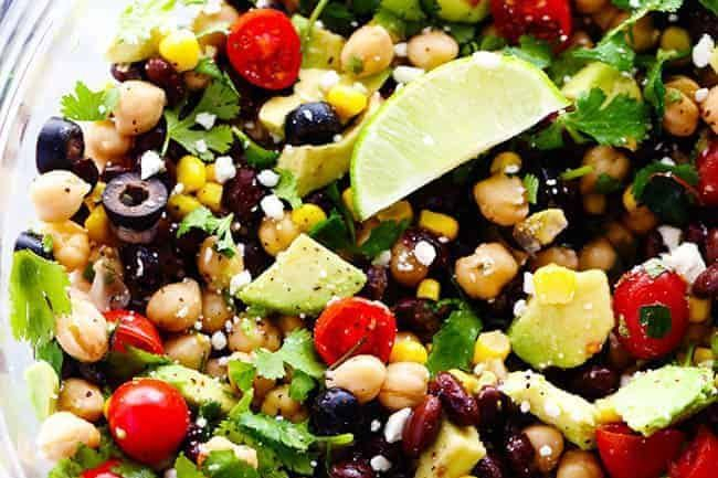 Southwest Chick Pea Salad