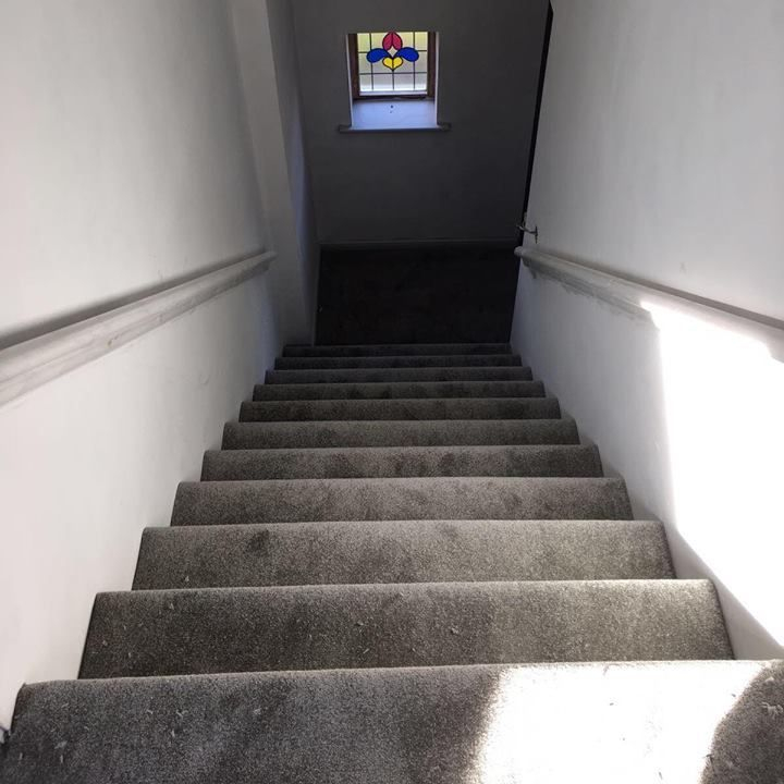 Grey  straight Stairs Carpet