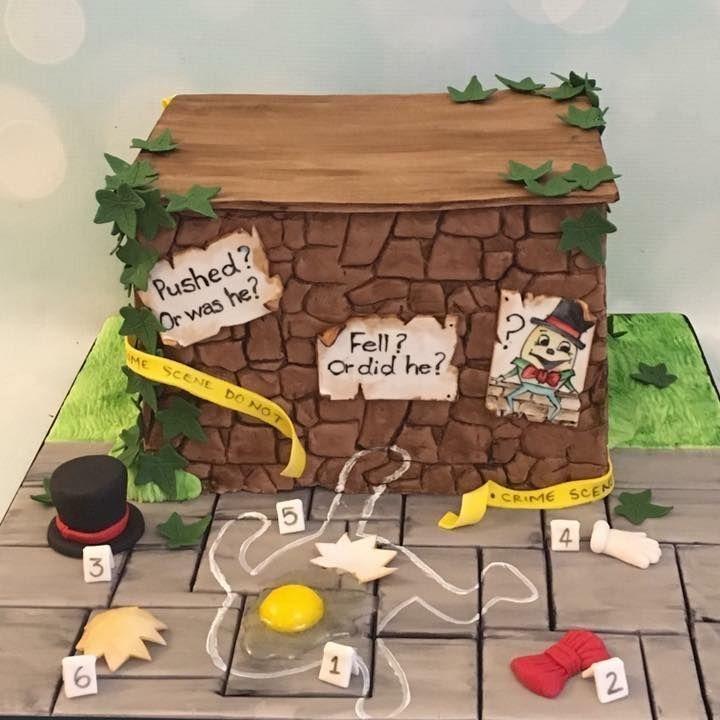 Humpty Dumpty Murder Mystery Cake Novelty Birthday