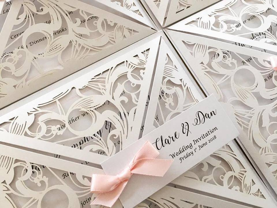 lasercut wedding invitation, wedding invitations