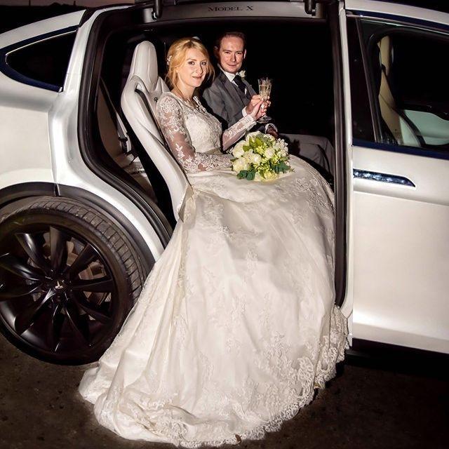 Falcon Tesla Wedding Cars Interior