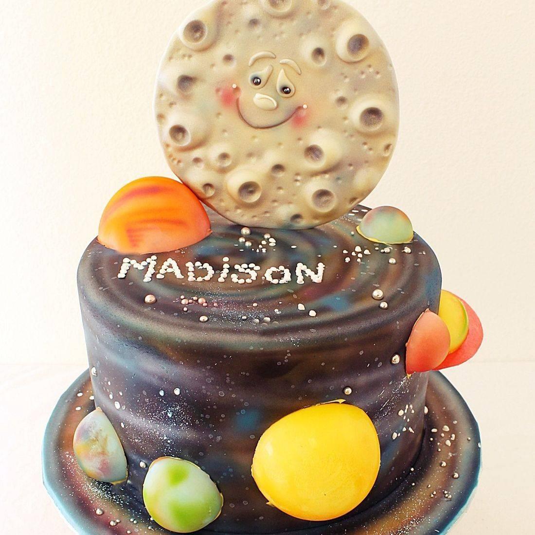 Custom Solar System Cake Milwaukee