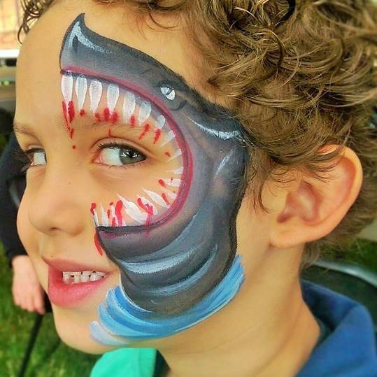 hoilday face painting perfect for kids Christmas events