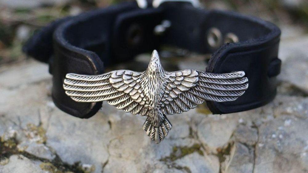 Crow Bracelet, Crow Jewelry, Raven, Viking Age, Vikings, Celts, Celtic Shield Ravens