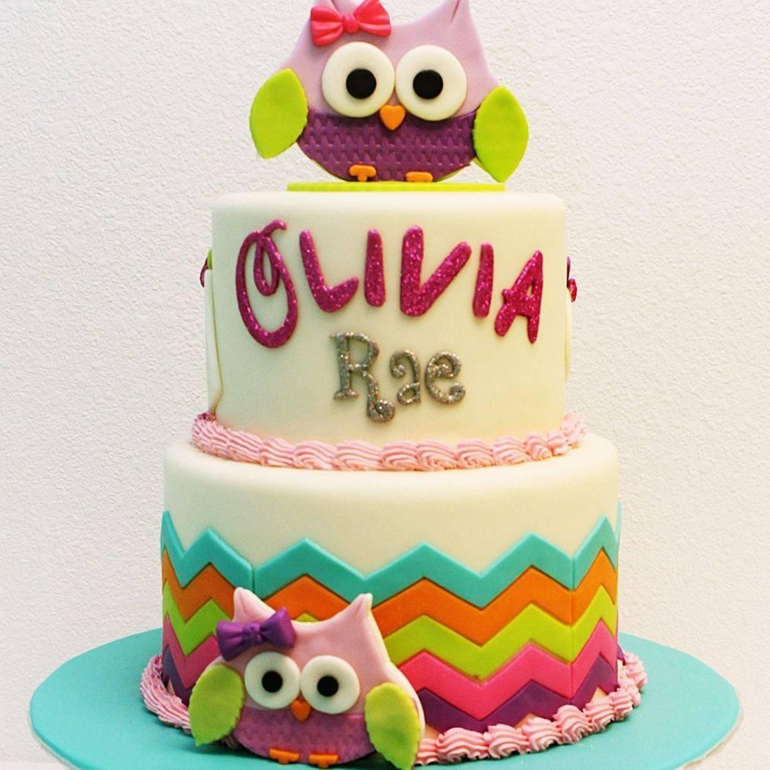 Custom Owls Cake Milwaukee