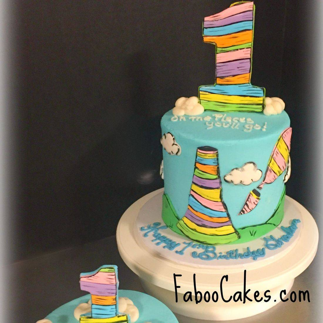 dr seuss cake oh the places you'll go birthday cake first birthday cake