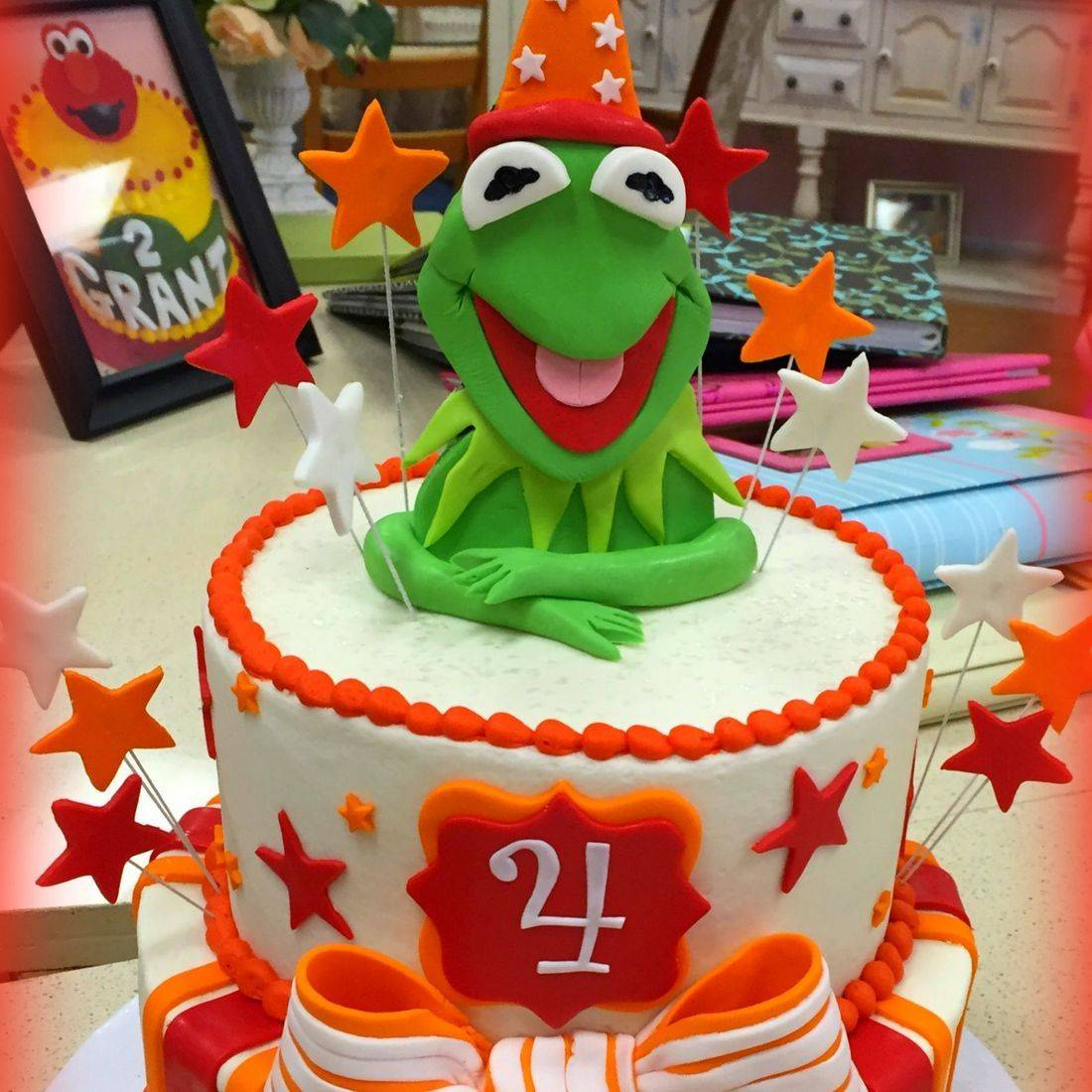 Kermit the Frog birthday cake muppets cake frog cake