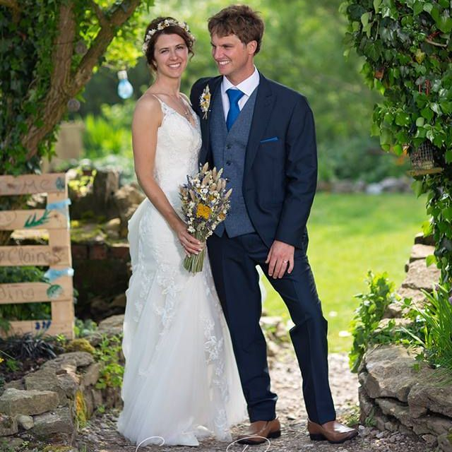 Just emerged as Mr & Mrs from our rustic Barn at Coed Weddings