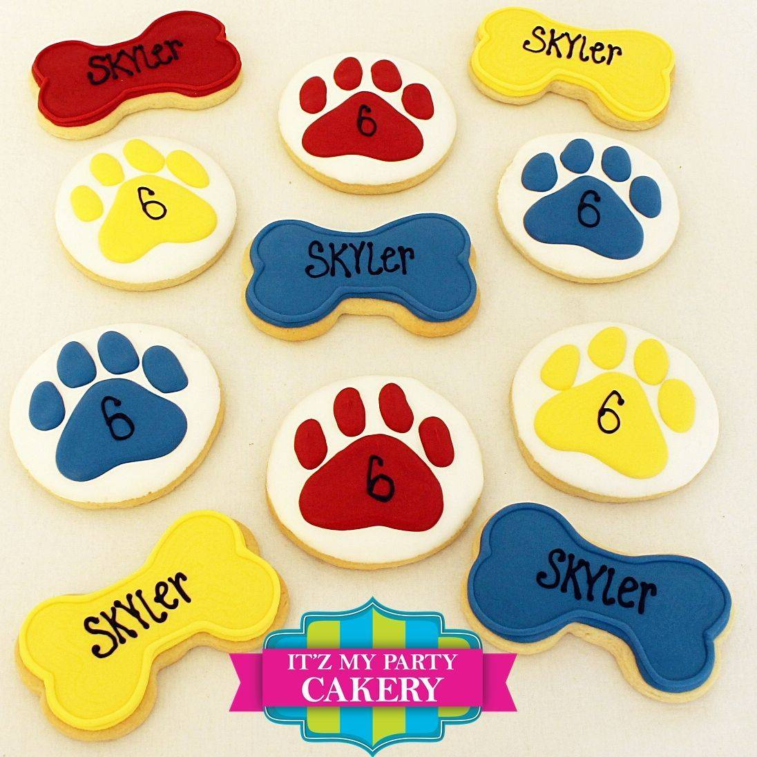 Paw Print Patrol Bone cookies Milwaukee