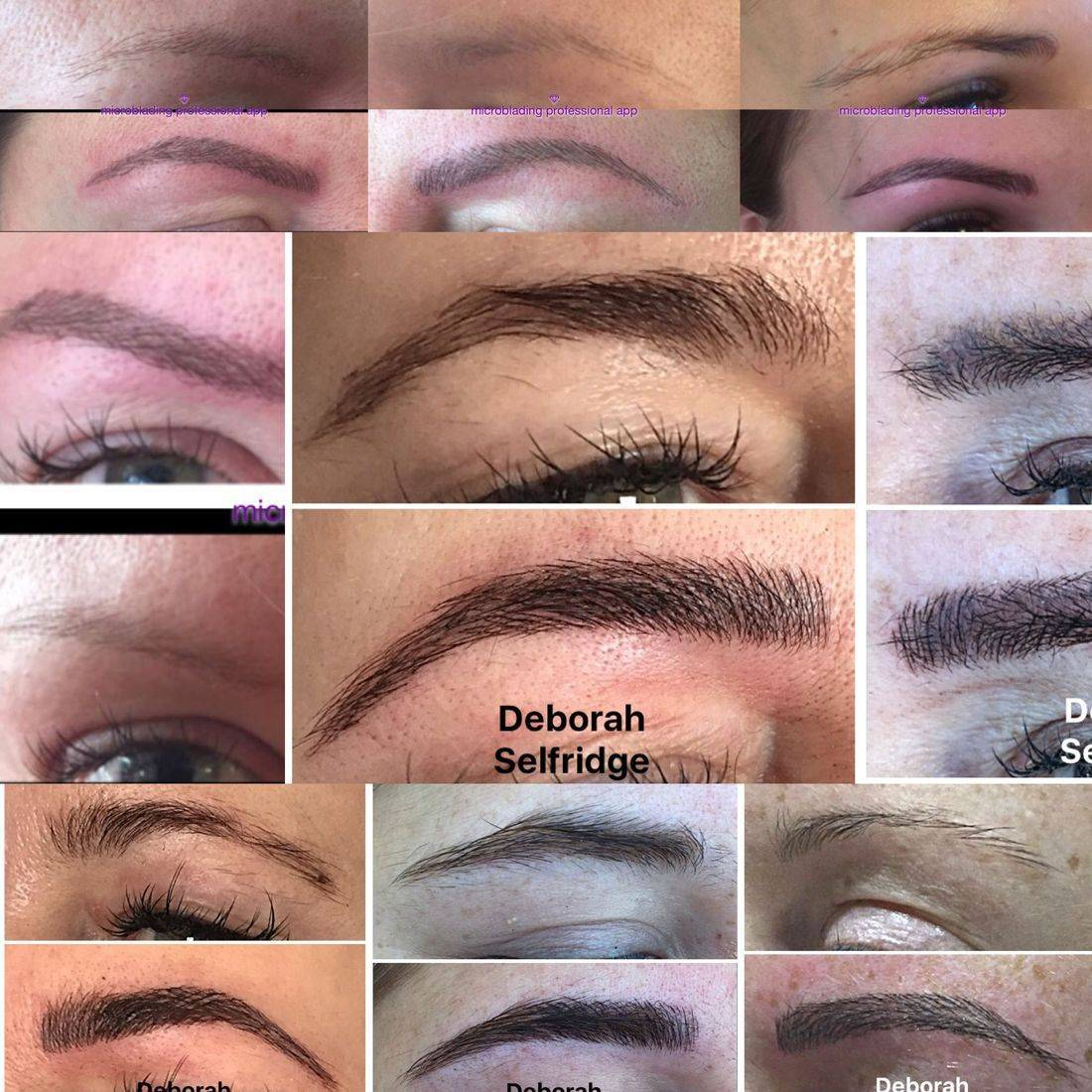 Microblading eyebrow tattoo in Marlow