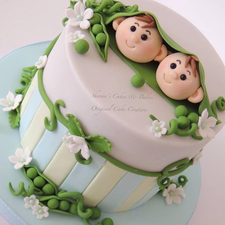 2 Peas Pod Stripes Cake