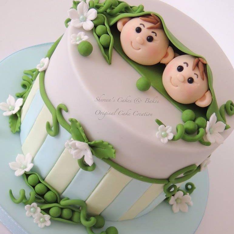 2 Peas Pod Stripes Cake