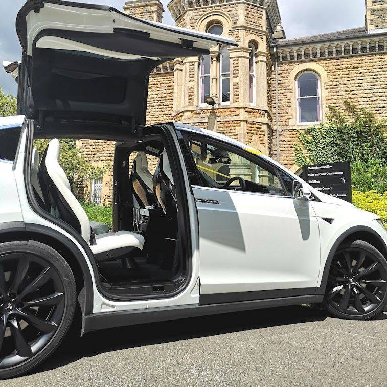 Falcon Tesla Wedding Cars