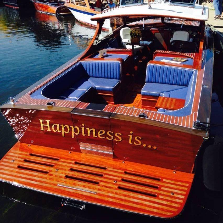 Lyman refit by Bergersen Boat at Geneva Lakes ACBS Show