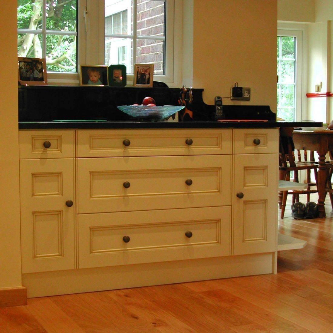 cream fitted kitchen