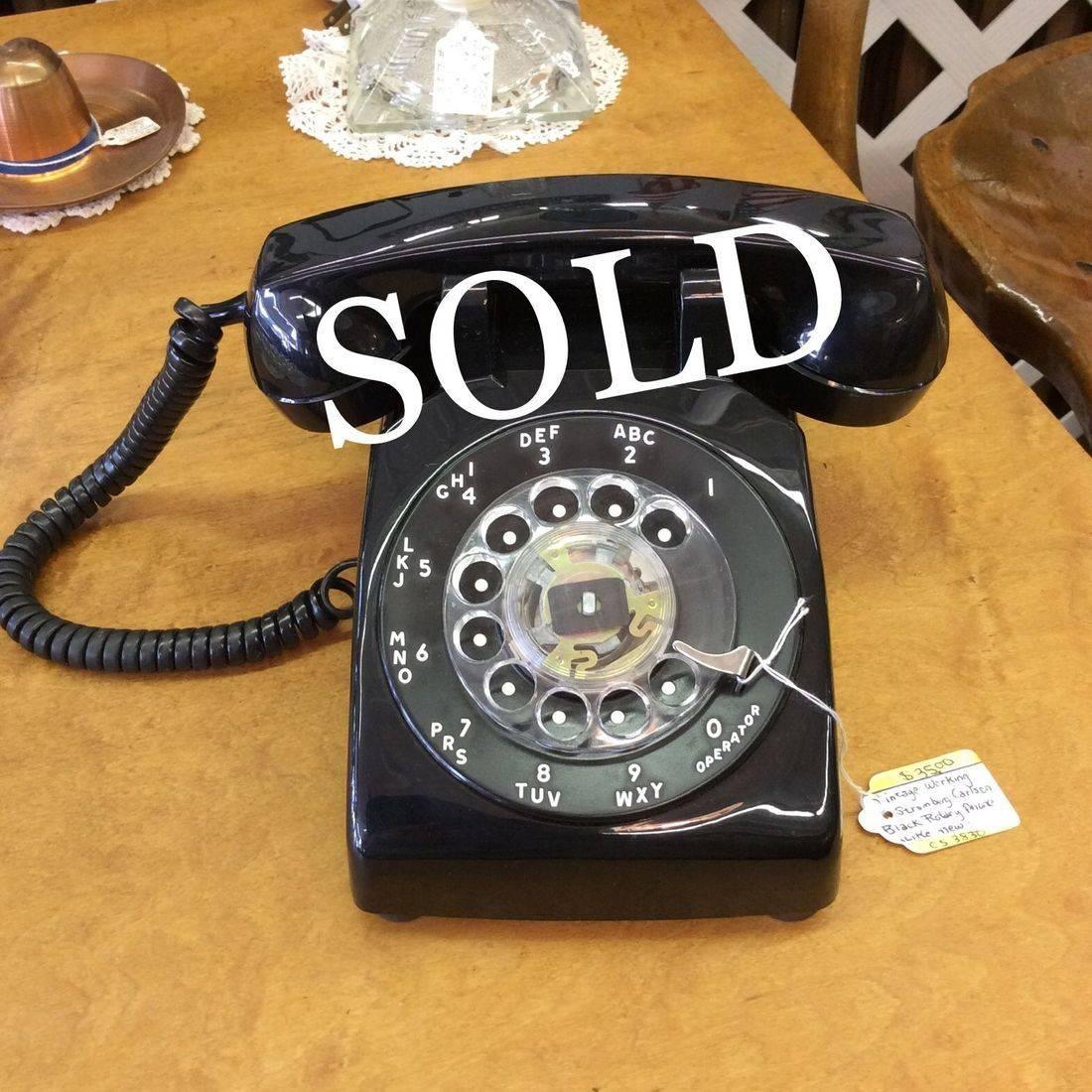 C. 1978 'Working' Stromberg Carlson Black Rotary Telephone   $35.00