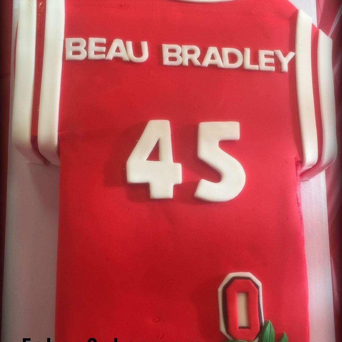 Ohio State Birthday Cake Football jersey cake beau bradley cake