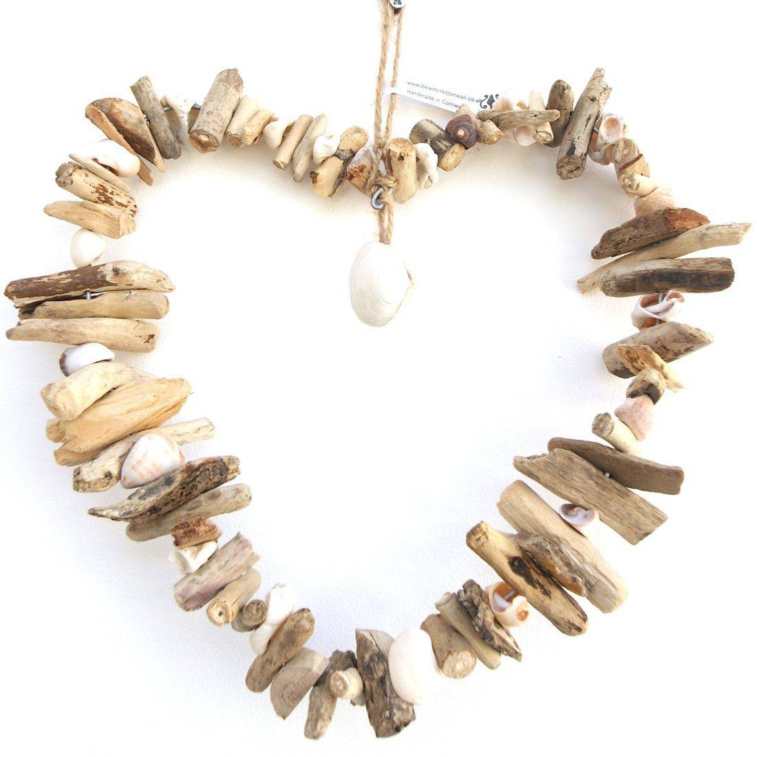 Driftwood Heart 3 wire large