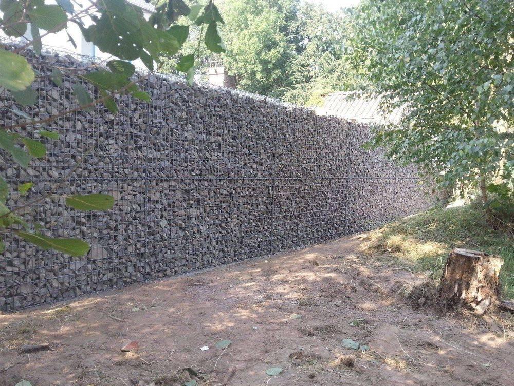 Gabionen, Mauer, Baubetreuung Zwickau, Baufirma, Michael Schöpe, Bauunternehmen