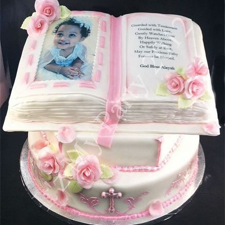 Baptism Bible Dimensional Cake Milwaukee