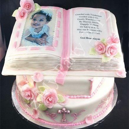 Baptism Bible Dimensional Cake Milwaukee