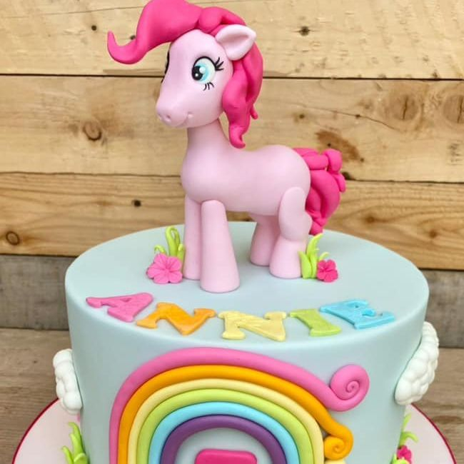 My Little Pony Birthday Cake Pinky Pie Rainbow Bright