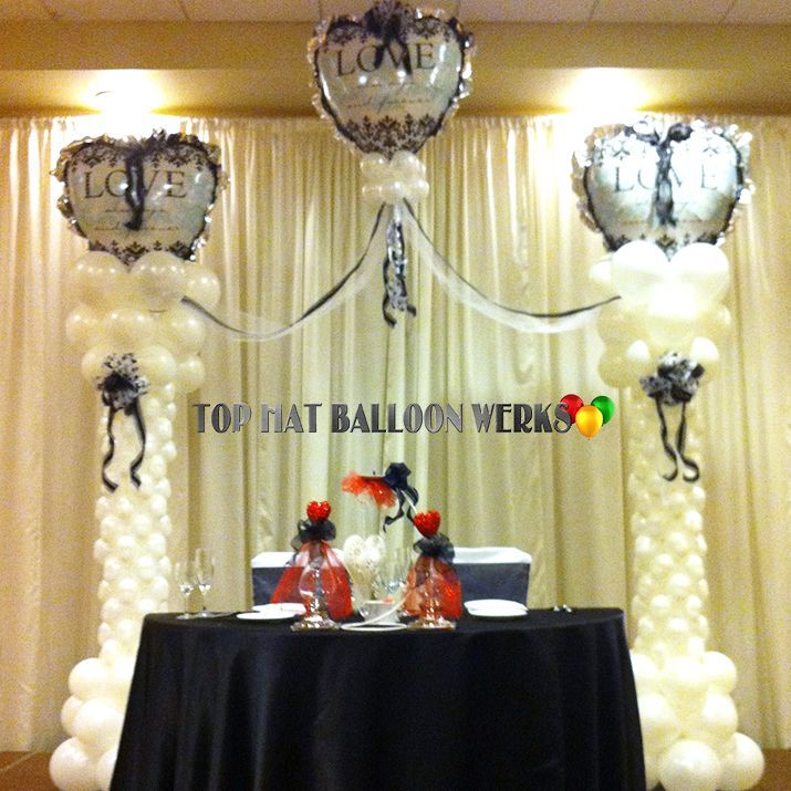 Wedding Balloon Altar Columns