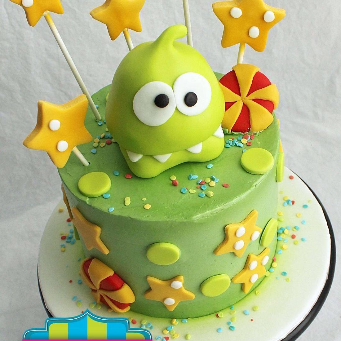Om Nom stylized cakes milwaukee