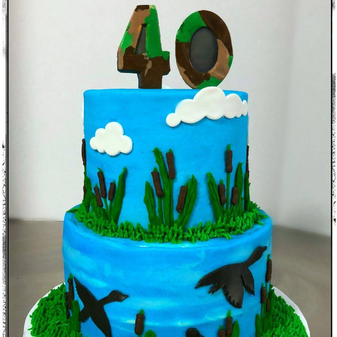 Hunting Birthday cake duck camo cake
