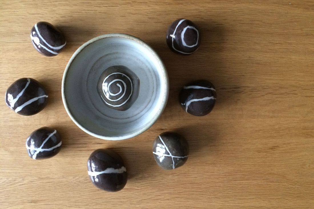 Ingrid Johannesson, Ingrid, Johannesson, clay, ceramic, colebrookestoneandclay, colebrooke,clay, pebble, bowl