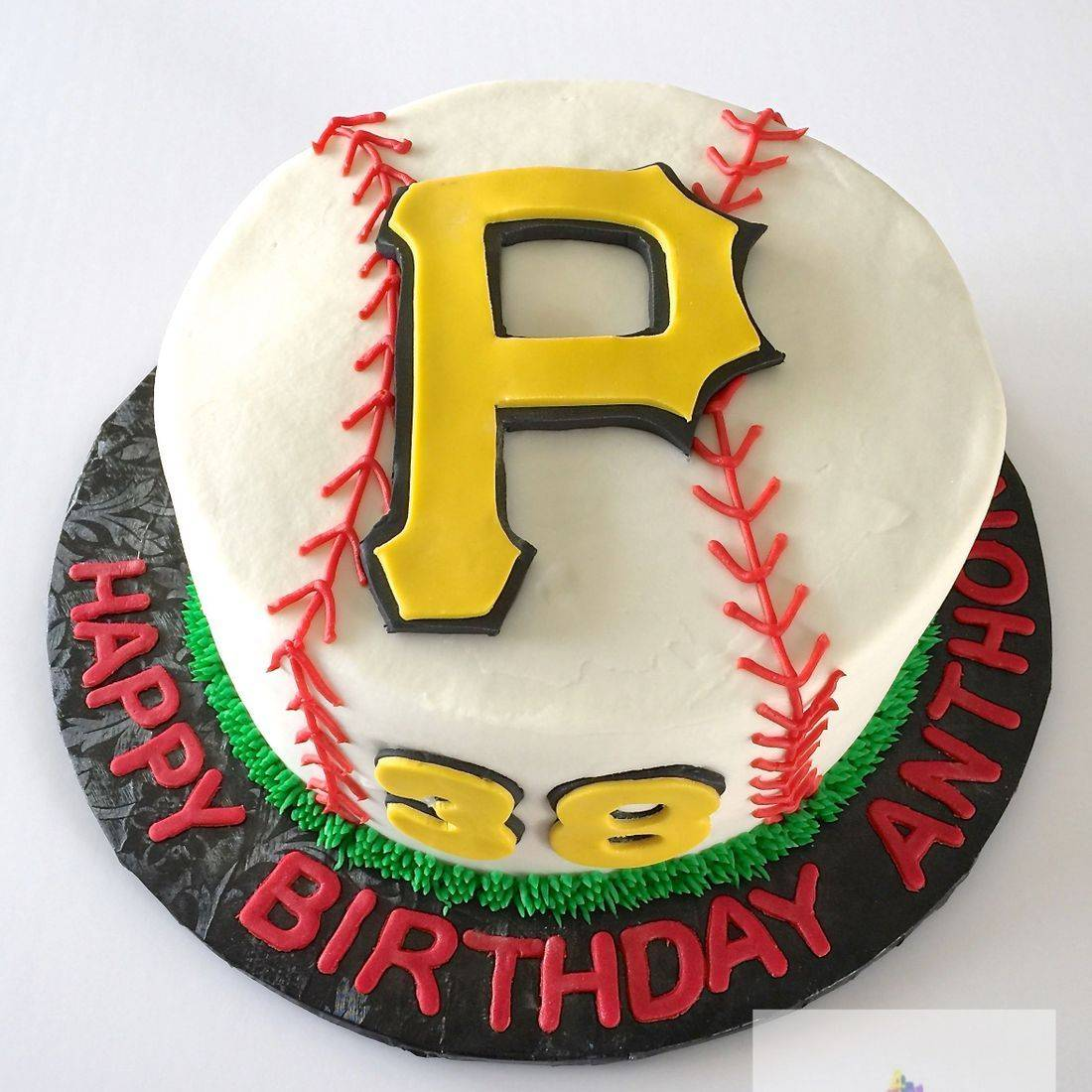 Pittsburgh Pirates Baseball Birthday Cake