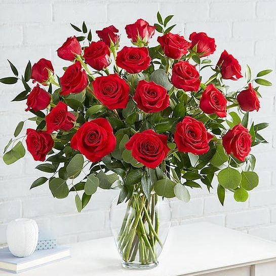 18 stem roses, valentines