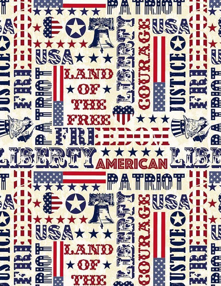 USA! USA! USA! 100% cotton fabric