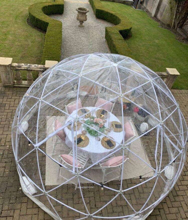 Dining Dome Igloo Cornwall Events Wedding
