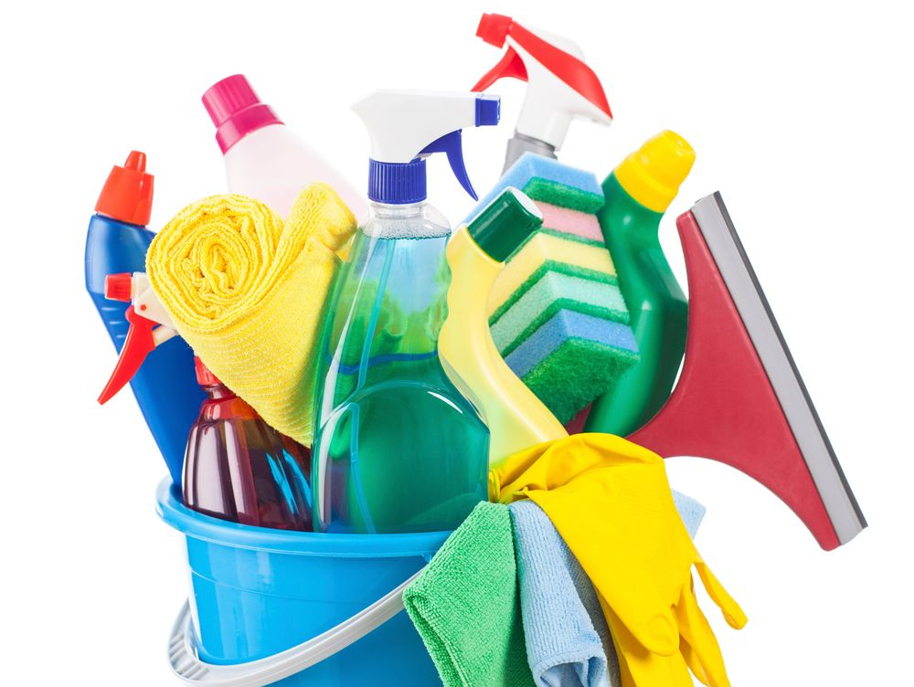 Cleaning supplies for services