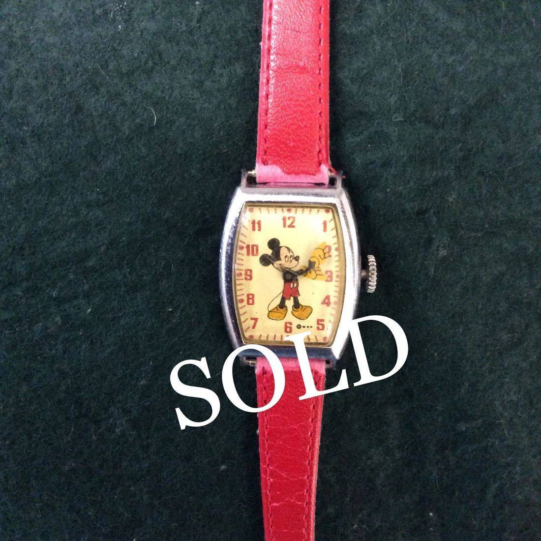 """C. 1940's/50's WDP Mickey Mouse #4740  """"Working""""  Wind-Up Watch   $65.00"""