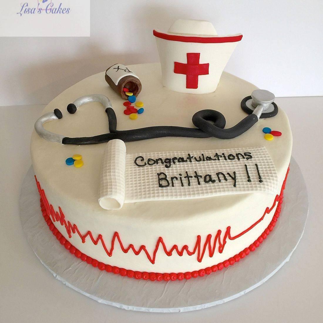 Nursing Graduation Cake RN Graduation Cake