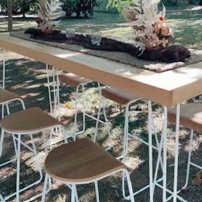 High bar tables- cocktail weddings