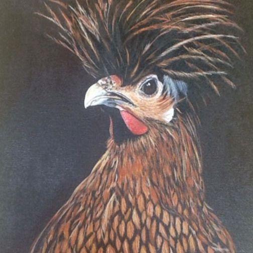CMerritt  BAD HAIR DAY Acrylic 16x20