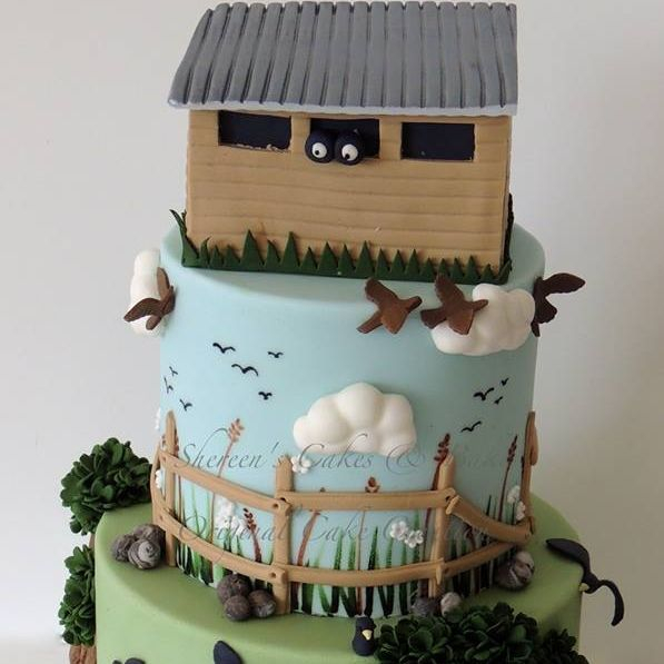 Bird Watcher  Birthday Celebration Novelty Cake
