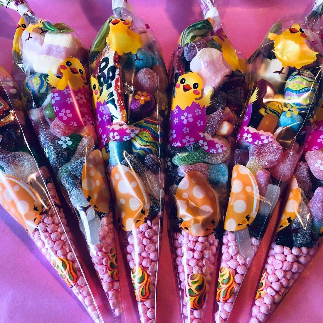 Easter sweet cones