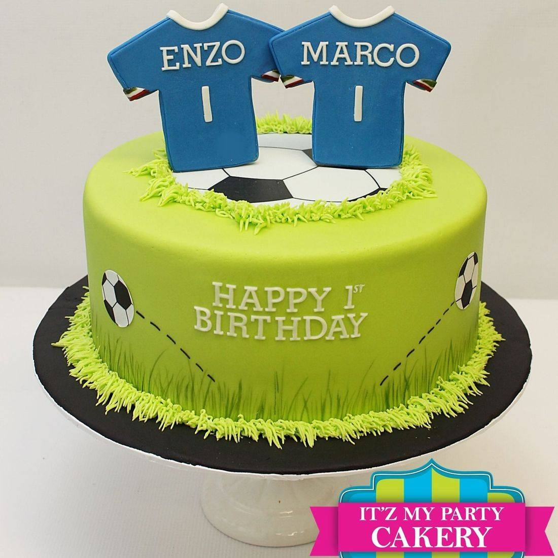 Custom Soccer Team Cake Milwaukee