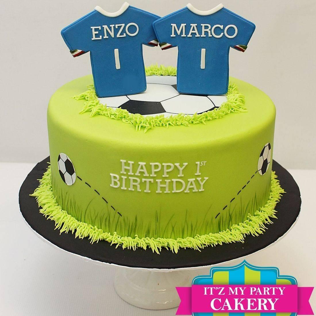 Custom Soccer Team Cake Milwaukee