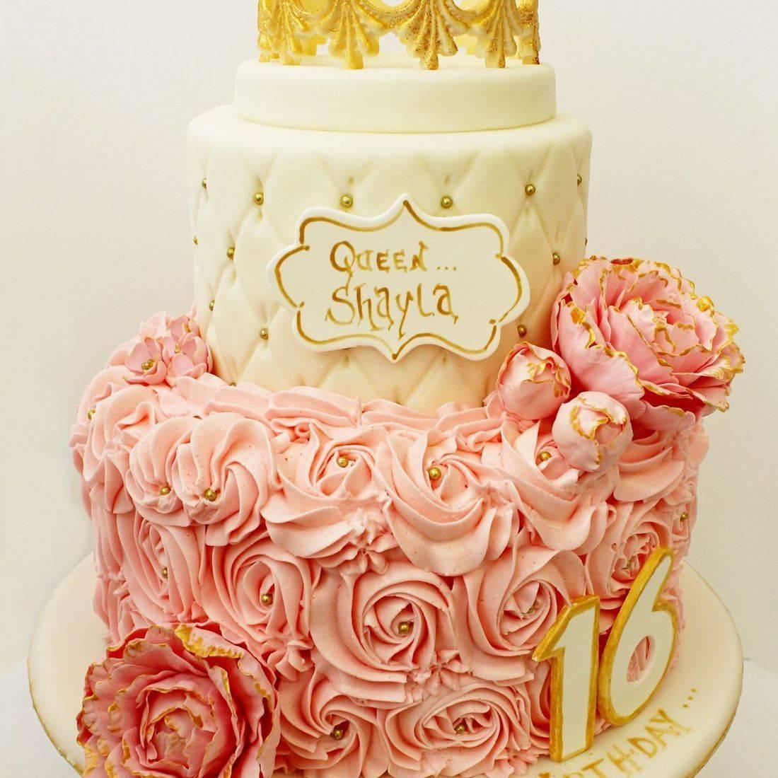 Custom Sweet  Sixteen Crown Cake  Milwaukee