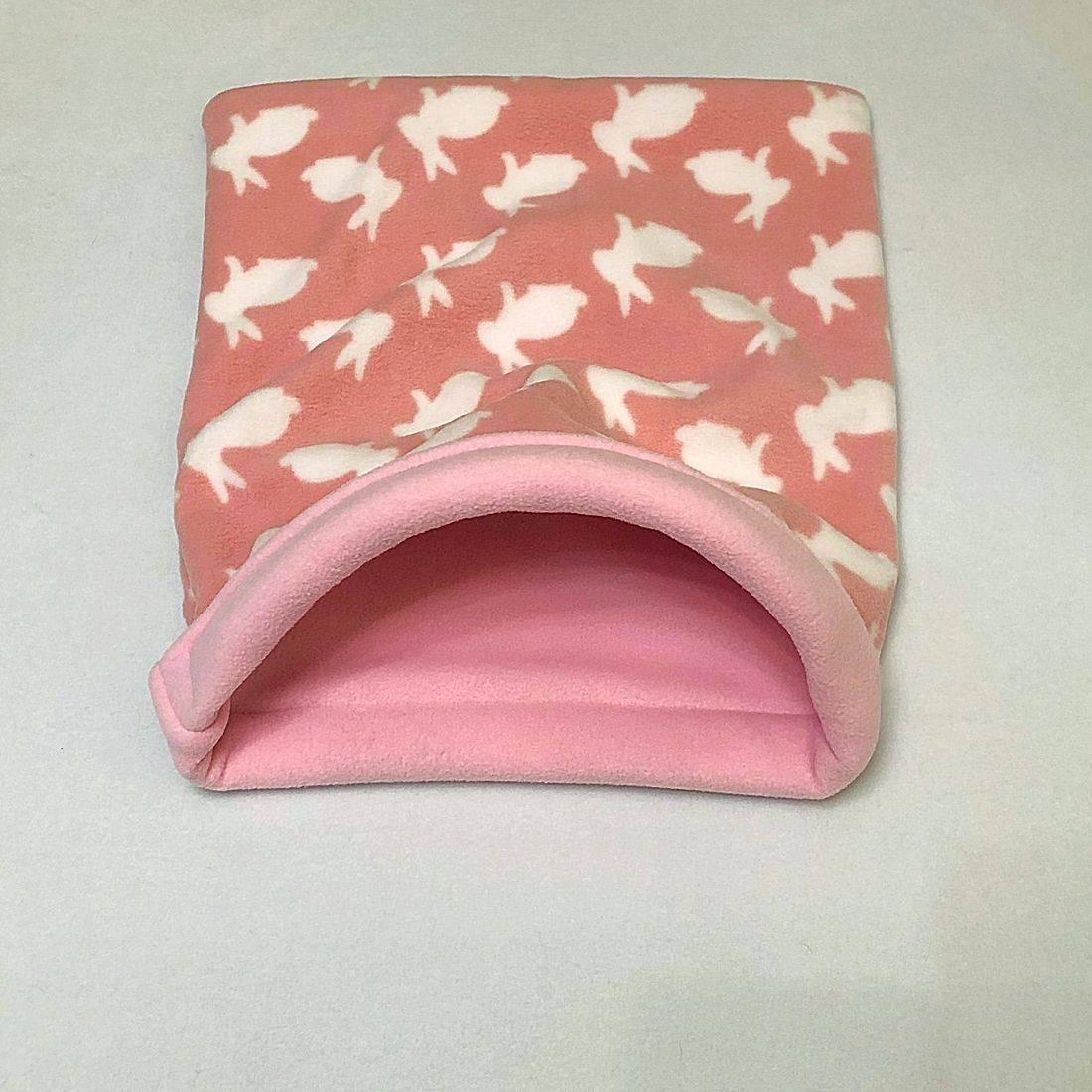 Flamingo piggie tunnel in Cream & rose pink