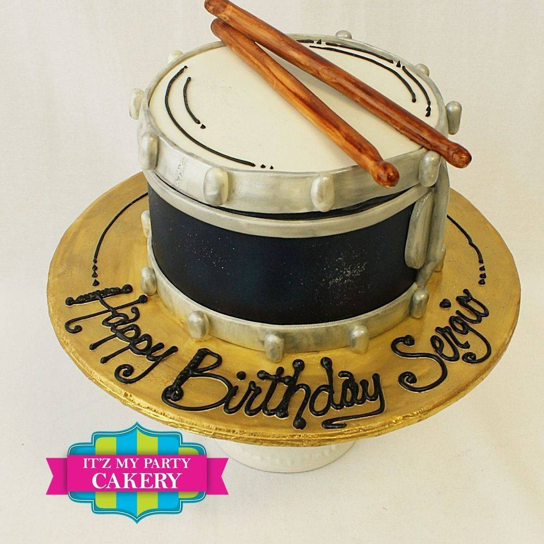 Mini Drum  Cake Dimensional Cake Milwaukee