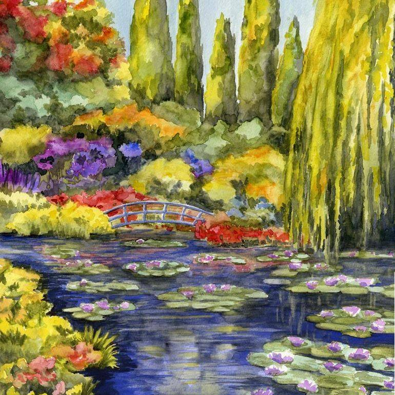 SBaeckmann - Monet's Giverny - Watercolor