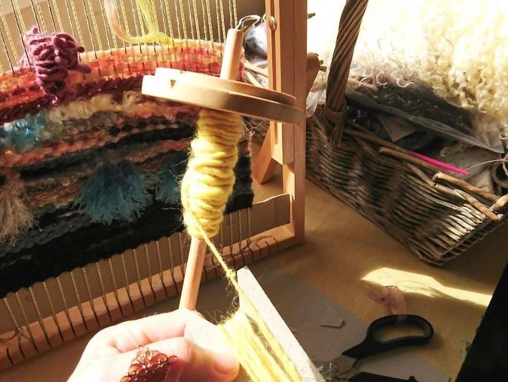 Hand Spun Yarn Weaving Woven Wallhanging