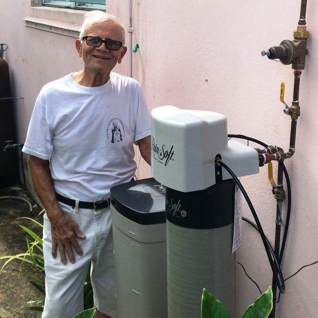 Suavizador de agua Rainsoft instalado
